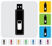 Pendrive ou Drive Usb ou Microdrive dispositivo para gráfico de vetor - armazenamento de dados