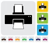 Ink-jet Or Laser-jet Printer- Simple Vector Graphic