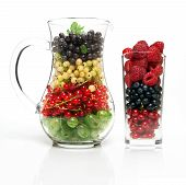 Glass Jug With Berries