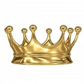 gold crown on white background