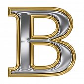 pic of b-double  - Metal silver and gold alphabet letter symbol  - JPG
