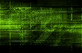 stock photo of virus scan  - System Scan Data for Pattern Recognition Art - JPG