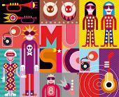 Music - Pop Art Vector Illustration