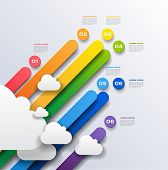 abstract business background rainbow infographics - vector