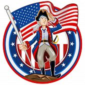Emblema patriota americano