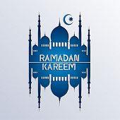 ramadan background paper art style - vector