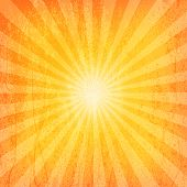 Sun Sunburst Grunge patroon