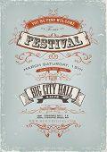 Grunge convite Festival Poster