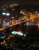 Night view of Cairo from Cairo tower