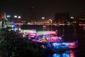 Night view of Nile embankment in Cairo
