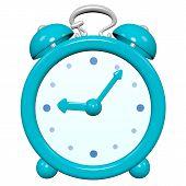Cartoon 3D Turquoise Clock