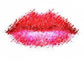 Abstract vector woman lips.