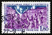 Postage Stamp France 1982 Electric Street Lighting