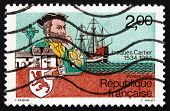 Postage Stamp France 1984 Jacques Cartier, Explorer