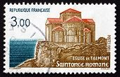 Postage Stamp France 1985 Talmont Church
