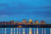 stock photo of rosslyn  - Washington DC cityscape at the night time - JPG