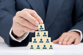 pic of human pyramid  - Human resources and corporate hierarchy concept  - JPG