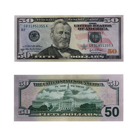 pic of one hundred dollar bill  - both sides of the fifty dollar bill isolated on white with clipping path - JPG