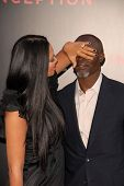 Kimora Lee and Djimon Hounsou at the