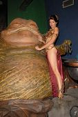 Natalie Atkins at the Slave Leia day tour and photo shoot with Jabba the Hutt, featuring members of  Gentle Giant Studios, Burbank, CA. 07-16-10