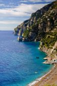Positano Beach From Above
