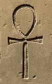 Ancient Egypt Symbol Ankh Carved On The Stone