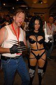 Alicia Arden as Aeon Flux with Wolverine at San Diego Comic Con, San Diego Convention Center, San Diego, CA. 07-24-10