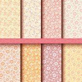 Set of vintage floral patterns.