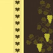 Grape On Brown With Yellow Pattern