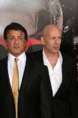 Sylvester Stallone and Bruce Willis  at the