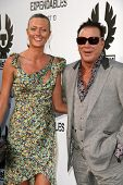 Mickey Rourke and Anastassija Makarenko at the