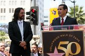 Marco Antonio Solis with Antonio Villaraigosa at the induction ceremony for Marco Antonio Solis into the Hollywood Walk David Edwards/DailyCeleb.com 818-249-4998of Fame, Hollywood, CA. 08-05-10