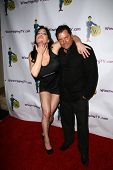 Chyna and Jeff Rector at the launch party for WineTrippingTV and fashion show by Olia, Aqua Lounge,