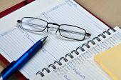 Ballpoint Pen And Glasses