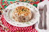 Almond Rice. Lebanese cuisine.