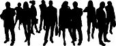 vector Silhouettes of businesspeople