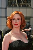 Christina Hendricks at the 2010 Primetime Creative Arts Emmy Awards,  Nokia Theater L.A. Live, Los Angeles, CA. 08-21-10