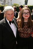 Robert Morse and daughter at the 2010 Primetime Creative Arts Emmy Awards,  Nokia Theater L.A. Live,