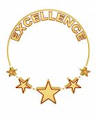 Excellence Award With Five Stars