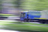 Truck In Motion - Panning