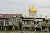 Stilt Houses Of Kampong Ayer And Sultan Omar Ali Saifudding Mosque, Brunei