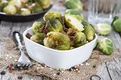 Portion Of Brussel Sprouts With Ham