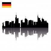 vector silhouettes of Frankfurt