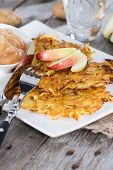 Potato Fritters With Applesauce