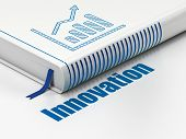 Finance concept: book Growth Graph, Innovation on white background