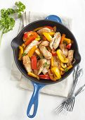 Roasted Chicken With Sweet Peppers