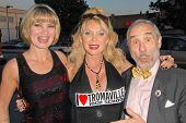 Rena Riffel, Shelley Michelle and Lloyd Kaufman at the 35th Troma Anniversary Event, New Beverly Cin