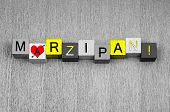 Marzipan, Sign Series For Cooking, Recipies And Cakes