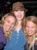 Amy Thompson, Jenise  Blanc and Evie Thompson at Jennifer Blanc-Biehn's Birthday Party, Sardos, Burbank, CA. 04-23-10
