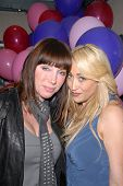 Tanya Newbould and Jennifer Blanc-Biehn at Jennifer Blanc-Biehn's Birthday Party, Sardos, Burbank, C